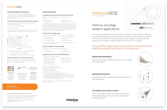 Immuno Oncology Placemat